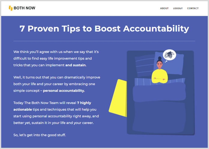 thumbnail for Both Now blog post on Boosting Your Personal Accountability