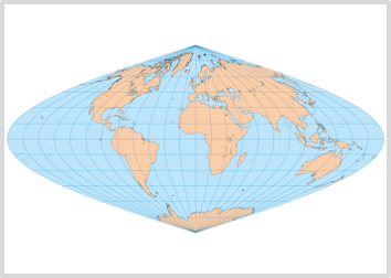 Sinusoidal Projection map of the world